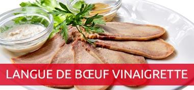 Langue de bœuf à la vinaigrette