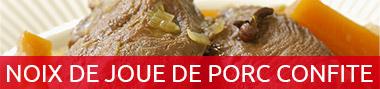 Noix de joue de porc confite à la graisse de canard