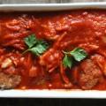 Noix de joue de porc à la tomate