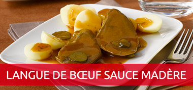Langue de boeuf sauce madere - Cuisiner langue de boeuf ...
